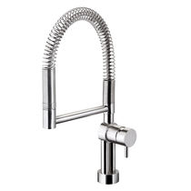 Stainless steel mixer tap / kitchen / swivel spout