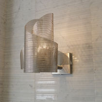 Contemporary wall light / stainless steel / halogen