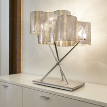 Table lamp / contemporary / polished stainless steel / LED