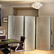 Contemporary screen / steel / stainless steel / for offices