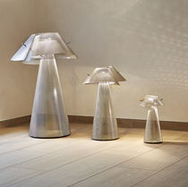 Floor-standing lamp / contemporary / stainless steel / halogen
