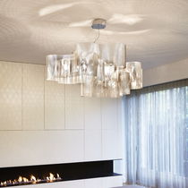 Pendant lamp / contemporary / stainless steel / LED
