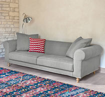 Traditional sofa / linen / 3-seater / 2-seater