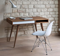 Contemporary desk / in wood / with storage