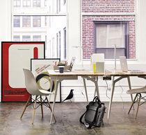 Wooden desk / metal / contemporary