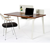 Contemporary desk / in wood / metal