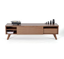 Contemporary TV cabinet / in wood