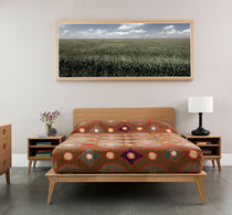 Double bed / contemporary / wooden / 180x200 cm