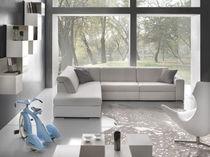 Corner sofa / contemporary / fabric / 4-seater