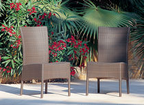 Contemporary chair / resin wicker / for hotels / outdoor