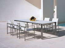 Square table / rectangular / for outdoor use / contemporary