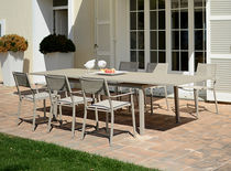 Square table / rectangular / outdoor / contemporary
