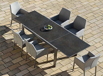 Dining table / square / rectangular / outdoor