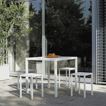 Contemporary stool / steel / outdoor / for hotels
