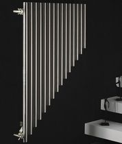 Hot water radiator / steel / stainless steel / original design