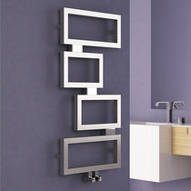 Hot water radiator / vertical / stainless steel / wall-mounted