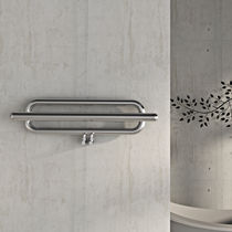 Hot water towel radiator / electrical / horizontal / stainless steel