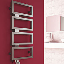 Hot water radiator / stainless steel / contemporary / bathroom