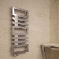 Hot water radiator / vertical / stainless steel / steel