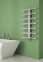 Hot water radiator / electrical / vertical / stainless steel