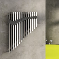 Hot water radiator / stainless steel / steel / wall-mounted
