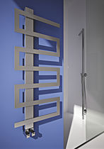Hot water radiator / electric / stainless steel / contemporary