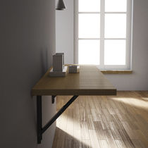 Contemporary table / glass / rectangular / folding