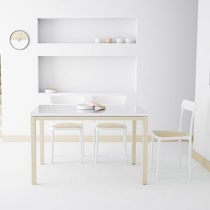 Contemporary table / laminate / rectangular / extending