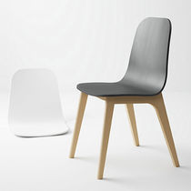 Scandinavian design chair / upholstered / ergonomic / fabric