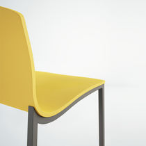 Contemporary bar chair / upholstered / aluminium