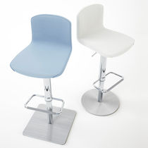 Contemporary bar chair / adjustable / central base / polyurethane