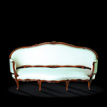 Louis XV style sofa / wood / 2-seater / white