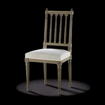Louis XVI style chair / upholstered / wooden