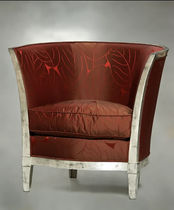 Art Deco armchair / wooden / bergere