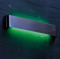 Contemporary wall light / extruded aluminum / LED / fluorescent