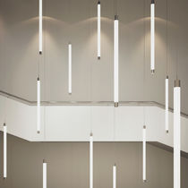 Hanging light fixture / LED / linear / thermoplastic