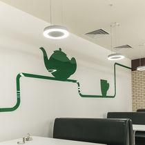 Hanging light fixture / LED / fluorescent / round