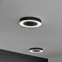 Contemporary ceiling light / round / polycarbonate / sheet metal