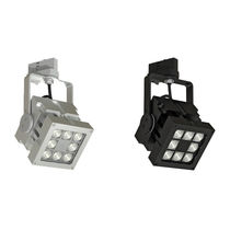 LED track lights / square / aluminum / commercial