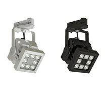 LED track light / square / aluminum / commercial