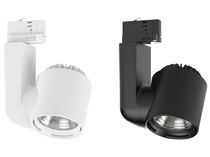 LED track lights / round / aluminum / commercial