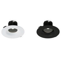 Recessed downlight / LED / round / PC
