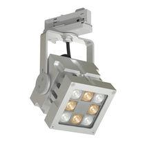 LED track light / square / aluminum / commercial