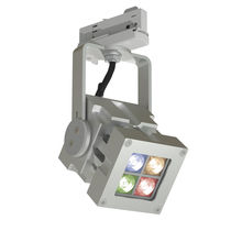 RGB LED track light / square / solid aluminum / commercial