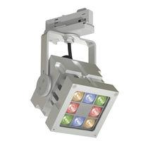 RGB LED track light / square / aluminum / commercial