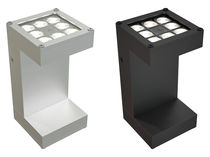 Contemporary wall light / aluminum / LED / square