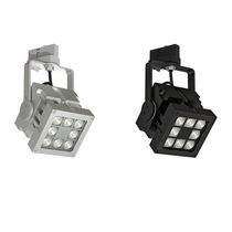LED track light / square / metal / commercial