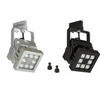 LED track lights / square / metal / commercial