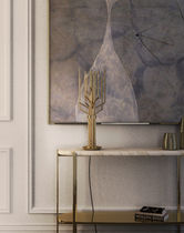 Table lamp / contemporary / brass / handmade