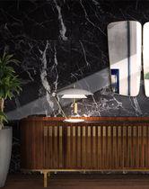Table lamp / contemporary / aluminum / brass